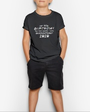 My 9th birthday the one where i was quarantined Youth T-Shirt lifestyle-youth-tshirt-front-1