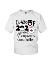 Kindergarten  Quarantined Graduate Youth T-Shirt front
