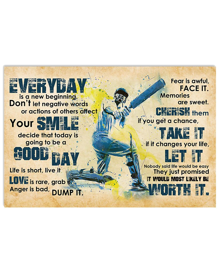 Cricket Everyday Is A New Beginning 17x11 Poster