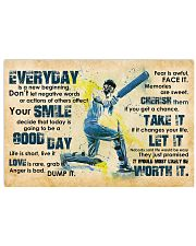 Cricket Everyday Is A New Beginning 17x11 Poster front