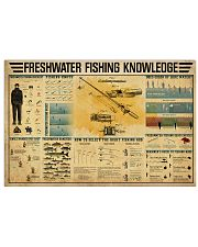 Freshwater Fishing Knowledge 17x11 Poster front