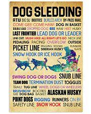 Dog Sledding Word Art 11x17 Poster front