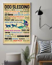 Dog Sledding Word Art 11x17 Poster lifestyle-poster-1