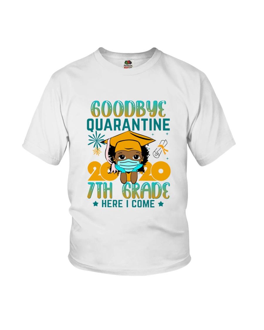 Black Girl 7th grade Goodbye quarantine Youth T-Shirt