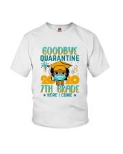 Black Girl 7th grade Goodbye quarantine Youth T-Shirt front