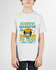 Black Girl 7th grade Goodbye quarantine Youth T-Shirt garment-youth-tshirt-front-01