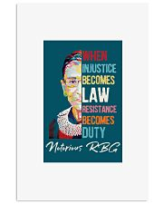 RBG when injustice wpap 11x17 Poster thumbnail