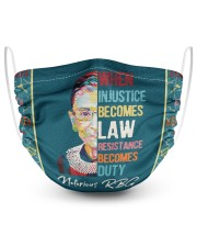 RBG when injustice wpap 2 Layer Face Mask - Single front