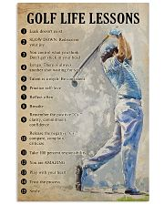 Golf life lessons 11x17 Poster front