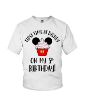 5th First time birthday Youth T-Shirt front