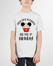 5th First time birthday Youth T-Shirt garment-youth-tshirt-front-01