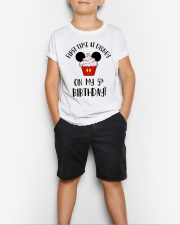 5th First time birthday Youth T-Shirt lifestyle-youth-tshirt-front-1