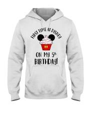 5th First time birthday Hooded Sweatshirt thumbnail