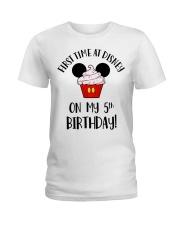 5th First time birthday Ladies T-Shirt thumbnail