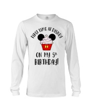 5th First time birthday Long Sleeve Tee thumbnail