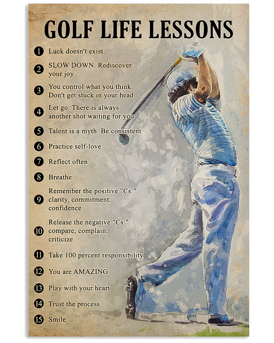 Golf life lessons 11x17 Poster