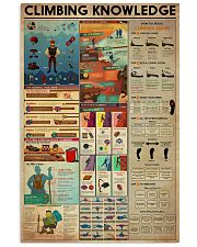 Climbing Knowledge 11x17 Poster front