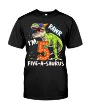 5 Birthday raw dinosaur Classic T-Shirt thumbnail