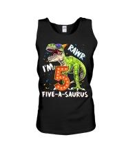 5 Birthday raw dinosaur Unisex Tank thumbnail
