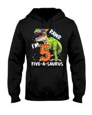 5 Birthday raw dinosaur Hooded Sweatshirt thumbnail