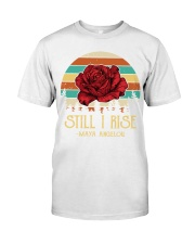 Maya Angelou still rise rose Classic T-Shirt tile