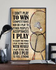 Badminton I Play To Feel Strong 11x17 Poster lifestyle-poster-2