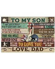 Cricket To My Son Dad 17x11 Poster front