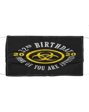 32nd Birthday None invited Cloth face mask thumbnail