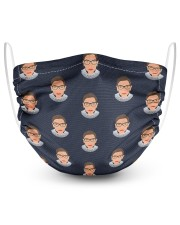 RBG pattern 2 Layer Face Mask - Single front