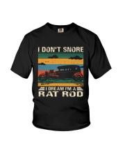 I Don't Snore Rat Rod Youth T-Shirt thumbnail