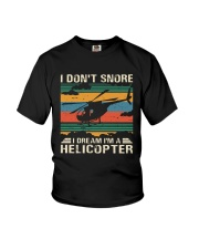I Don't Snore Helicopter Youth T-Shirt thumbnail