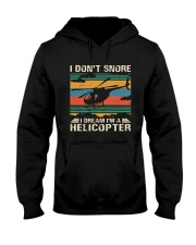 I Don't Snore Helicopter Hooded Sweatshirt thumbnail