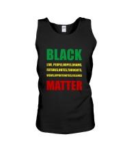 Black Matter 2 Slide front Unisex Tank thumbnail