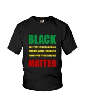 Black Matter 2 Slide front Youth T-Shirt thumbnail
