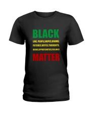 Black Matter 2 Slide front Ladies T-Shirt thumbnail