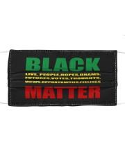 Black Matter 2 Slide front Cloth face mask thumbnail