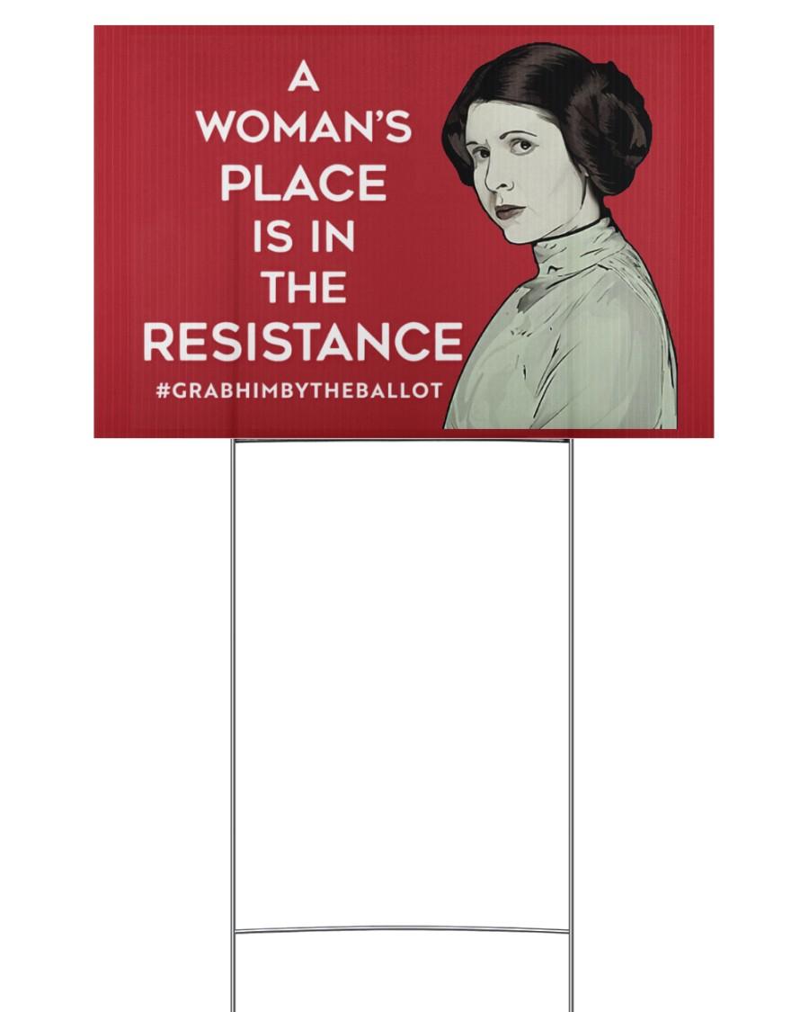resistance yard sign 18x12 Yard Sign