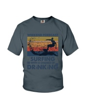 Surfing Forecast Youth T-Shirt thumbnail