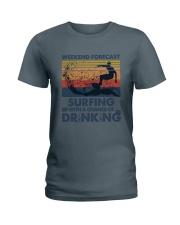 Surfing Forecast Ladies T-Shirt thumbnail