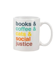 Books coffee cats justice pattern Mug tile