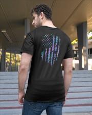 Mermaid american flag Classic T-Shirt apparel-classic-tshirt-lifestyle-back-48