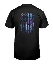 Mermaid american flag Classic T-Shirt back