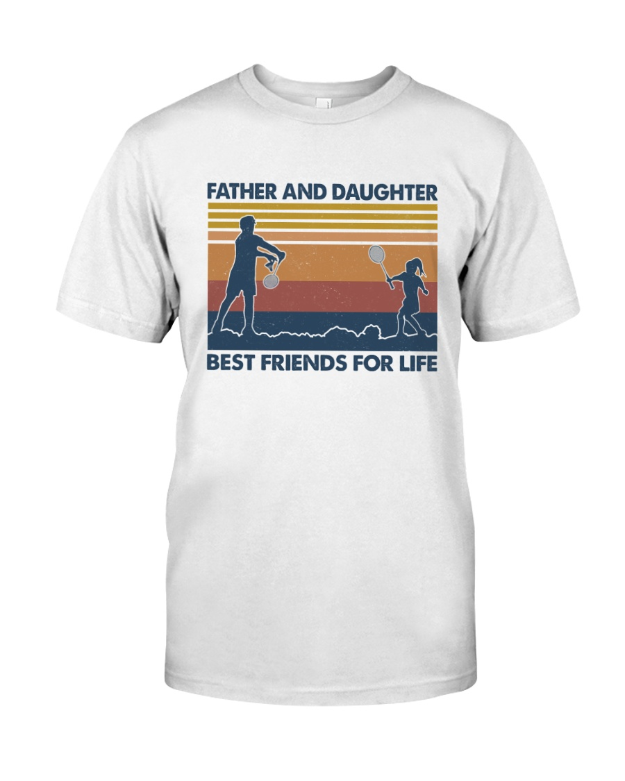 Dad Daughter Badminton Classic T-Shirt
