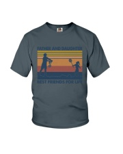 Dad Daughter Badminton Youth T-Shirt thumbnail