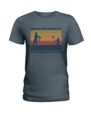 Dad Daughter Badminton Ladies T-Shirt thumbnail
