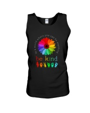 You Can Be Anything Be Kind Sign Hand Unisex Tank thumbnail