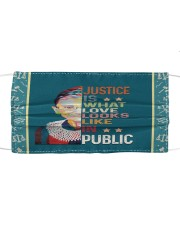 RBG justice looks Cloth face mask front