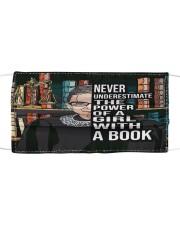 RBG never underestimate book Cloth face mask thumbnail