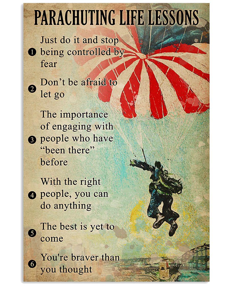 Parachuting Life lessons  11x17 Poster