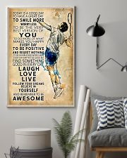 Badminton Today Is A Good Day 11x17 Poster lifestyle-poster-1